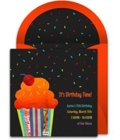 Don't miss this collection of FREE birthday party invitations. We love this handmade cupcake design for a 30th birthday party!