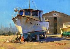 Wait'n For Parts by Dennis Dame  Oil 5 x 7