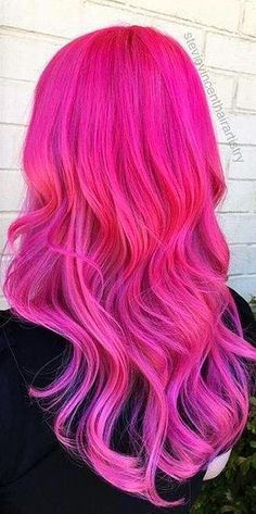 Hot pink long waves