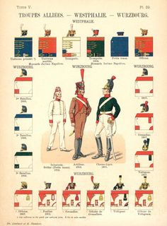 Королевство Вестфалия. Союзные войска. Uniformes de I'Armee Francaise 1690-1894 Lienhart & Humbert