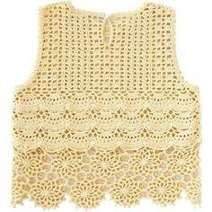 Tecendo Artes em Crochet: Blusinha Amarela