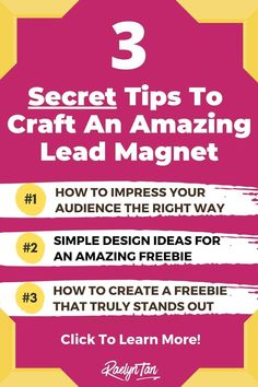 Here are 3 lead magnet ideas for coaches, to grow your email list fast! These are great lead magnet ideas for photographers, artists, interior designers, travel, bloggers etc. Examples included! Finally get your landing page to convert with these tips :) via @raelyntan Email Marketing Strategy, Inbound Marketing, Sales And Marketing, Internet Marketing, Lead Magnet, Online Blog, Online Entrepreneur, Email List, Coaches
