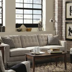 Love this tufted Abbott Sofa