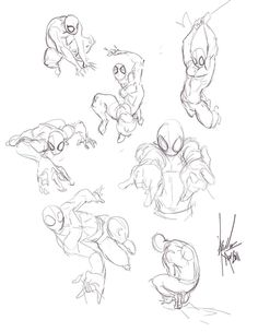 spiderman poses by bloodcult on @DeviantArt