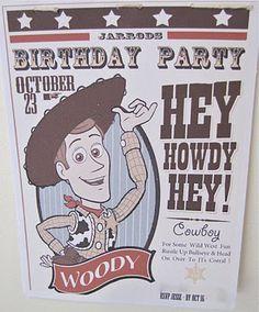 LoTS of party ideas! mini mocha: The Cowboy Wild West Party Cowboy Birthday Party, Cowboy Party, Birthday Fun, Birthday Party Themes, Birthday Ideas, Birthday Crafts, Toy Story Theme, Toy Story Party, Toy Story Birthday