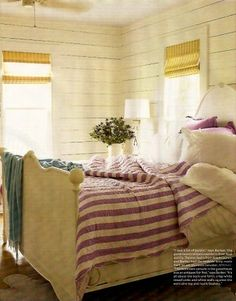 and this, of course, is my bedroom in the seaside cottage that I will acquire in Maine.
