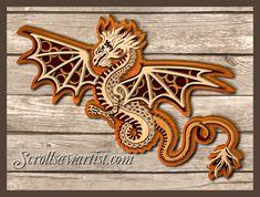 Christmas Scroll Saw Patterns | Multi-layered dragon