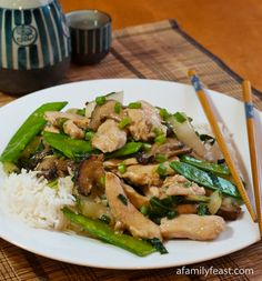 Velvet Chicken with Vegetables - A Family Feast.  This recipe shows you how to recreate this popular Chinese dish at home.