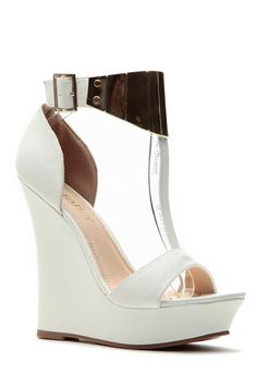 White T Plated Matte Wedges @ Cicihot Wedges Shoes Store:Wedge Shoes,Wedge Boots,Wedge Heels,Wedge Sandals,Dress Shoes,Summer Shoes,Spring Shoes,Prom Shoes,Women's Wedge Shoes,Wedge Platforms Shoes,floral wedges