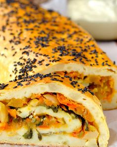 Potato Roll with Vegetable Filling Cooking Recipes, Healthy Recipes, Pavlova, Quiches, Bagel, Healthy Lifestyle, Clean Eating, Dinner Recipes, Rolls