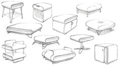 Modern Furniture Sketches pinmes on interior design drawings | pinterest | art director