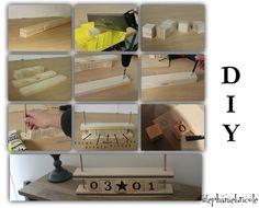 DIY un calendrier perpétuel en bois - Stéphanie bricole (pdf tuto ici : https://data.peoplbrain.com/uploads/diapo/faire-un-transfert-sur-du-bois-avec-du-papier-sulfurise-fr.pdf   )