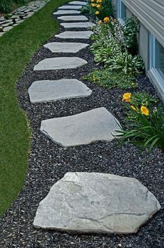 Add value to your home with best front yard landscape. Explore simple and small front yard landscaping ideas with rocks, low maintenance, on a budget. Front Yard Garden Design, Front Yard Decor, Small Front Yard Landscaping, Modern Landscaping, Landscaping Ideas, Yard Design, Modern Landscape Design, Landscape Plans, Backyard Walkway