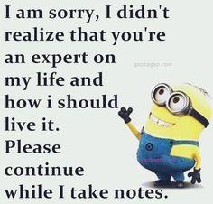 #Funny #Minion #Joke About Expert vs. Life