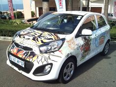 KIA Picanto Launch - July 2011... Ed Hardy Wrap Vehicle Branding, Kia Picanto, Car Brands, Future Car, Cars And Motorcycles, Branding Design, Product Launch, Van, Vehicles