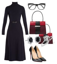 """""""Untitled #276"""" by mchlap on Polyvore featuring Gabriela Hearst, Christian Louboutin, Prada, Anne Sisteron, Tom Ford and Blue Nile"""