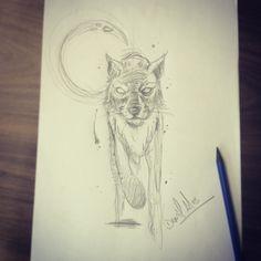 Sketchbook :: @dn_alves Sketch :: Tattoo Artist :: wolf :: lobo :: fox :: raposa Daniel R Alves :: dn alves Art BR :: illustration