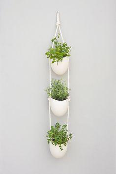 4 tier porcelain and cotton rope hanging por lightandladder en Etsy