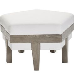 Rose Chamfered Ottoman from the Hable for Hickory Chair™ collection by Hickory Chair Furniture Co.