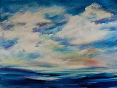 """""""Ocean and Sky"""" by Margie Pye http://www.ugallery.com/margie-pye#"""