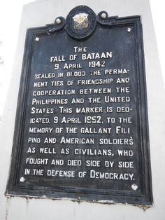 The fall of Bataan WWII  The Battle of Bataan ended on April 9, 1942, when U.S. General Edward P. King surrendered to Japanese General Masaharu Homma. At that point 75,000 Soldiers became Prisoners of War: about 12,000 Americans and 63,000 Filipinos. What followed was one of the worst atrocities in modern wartime history — the Bataan Death March. Read more on our blog: http://1.usa.gov/16Lxl48.