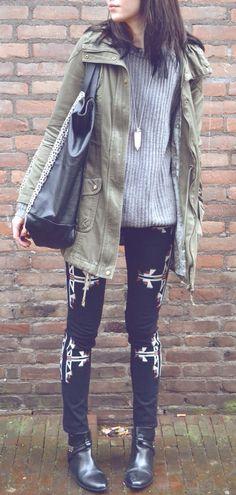 tribal print jeans