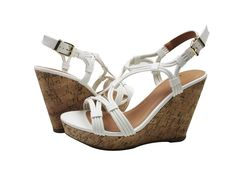 Jillian S T-Strap Platform Wedge