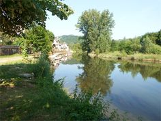 View of the river Olt. Europe, France, Great Photos, Mirrors, Reflection, River, Landscape, Outdoor, Beautiful