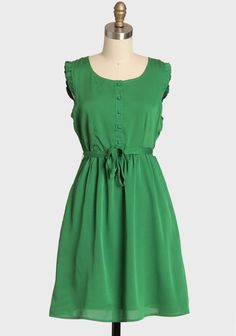 Evergreen Morning Button Up Dress By Tulle   Modern Vintage Dresses