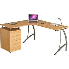 Large Corner Computer Desk with 3 Drawers and A4 Filing Matching other Piranha Home Office Furniture - Regal PC 28