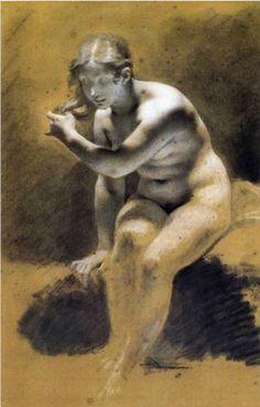Bathing Venus - Pierre-Paul Prud'hon