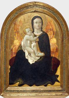 Sano di Pietro, aka Ansano di Pietro di Mencio (1405-1481) — Madonna of Humility, Early 1440's : The Brooklyn Museum, New York, NY. USA   (1011x1450)