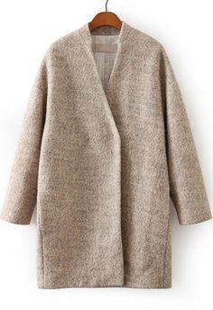Mantel aus Wolle, aprikosenfarbe
