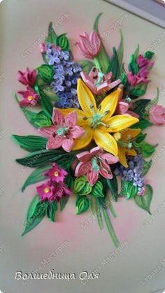 Картина панно рисунок Квиллинг весна Бумага фото 2