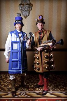 Steampunk Halloween from the Tardis and Dalek