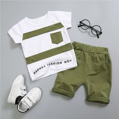 Cheap infant boy, Buy Quality clothes set directly from China baby boy casual clothes Suppliers: Bergawa Summer Kids Infants Boys Male Baby Printed Letter T-Shirt Tops+Shorts Pants Casual Clothes Sets Tracksuits Little Boy Outfits, Baby Boy Outfits, Kids Outfits, Casual Outfits, Casual Clothes, Kids Fashion Boy, Infant Boy Fashion, Baby Boy Dress, Cool Baby Clothes