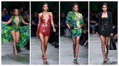 Versace Ready to Wear – Spring 2020 - Glam News Magazine Donatella Versace, News Magazines, Jennifer Lopez, Ready To Wear, Cover Up, Costume, Spring, How To Wear, Dresses