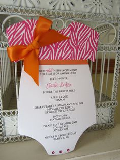 Items similar to Zebra Theme Baby Shower, Animal Print - Custom Die Cut - Colors can be Customized* on Etsy Orange Party, Baby Shower Themes, Shower Ideas, Dream Baby, Shower Time, Baby Shower Invitations, Invites, Girl Shower, Party Planning
