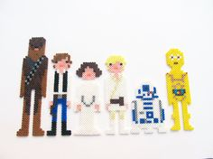 Star Wars Hero Perler bead Sprites by ShowMeYourBits