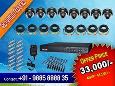 8 Dome Cameras & 8 Channel DVR Security surveillance Kit