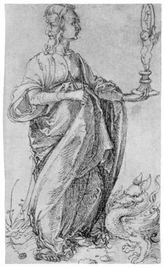 "Drawing from the ""Tarot"" Prudence - Albrecht Durer"