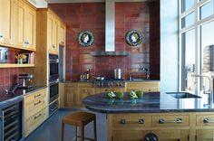 Iron Red granite kitchen