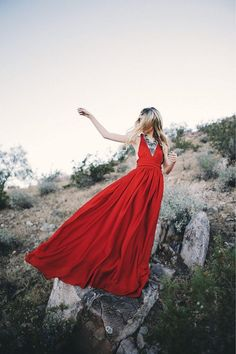 Red maxi dress. Perfect for summer.