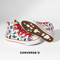 You already know the iconic details — the diamond sole, Chuck Taylor ankle patch and classic canvas upper. But the Chuck Taylor All Star Dinoverse kids sneaker puts a playful spin on an icon with fun dinosaur graphics, designed for little feet! Cute Shoes, Me Too Shoes, Kids Converse Shoes, Sean Parker, Boy Outfits, Cute Outfits, Doja Cat, Up Girl, Swagg