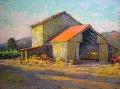Barn in Morning Light (pastel, 11x14) by Terri Ford