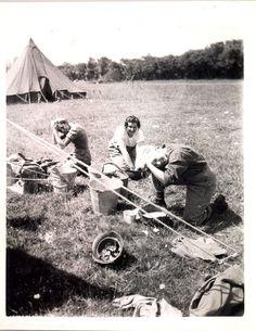 WWII Nurses washing their hair