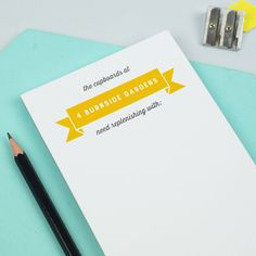Personalised Shopping Notepad