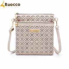 2016 Fashion Vintage Bags Women Shoulder Bags Small Women Messenger Bag PU Hollow Out Crossbody Bags Ladies Purse