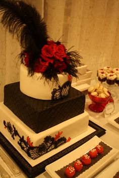 mouline rouge theme cake. love this!