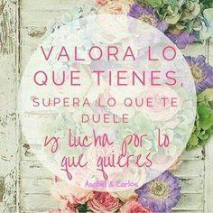 Hazlo hoy quizás mañana sea demasiado tarde!!! Valora, Supera y Lucha!!! #anabelycarlos #fuerzaycoraje #Dreams2016